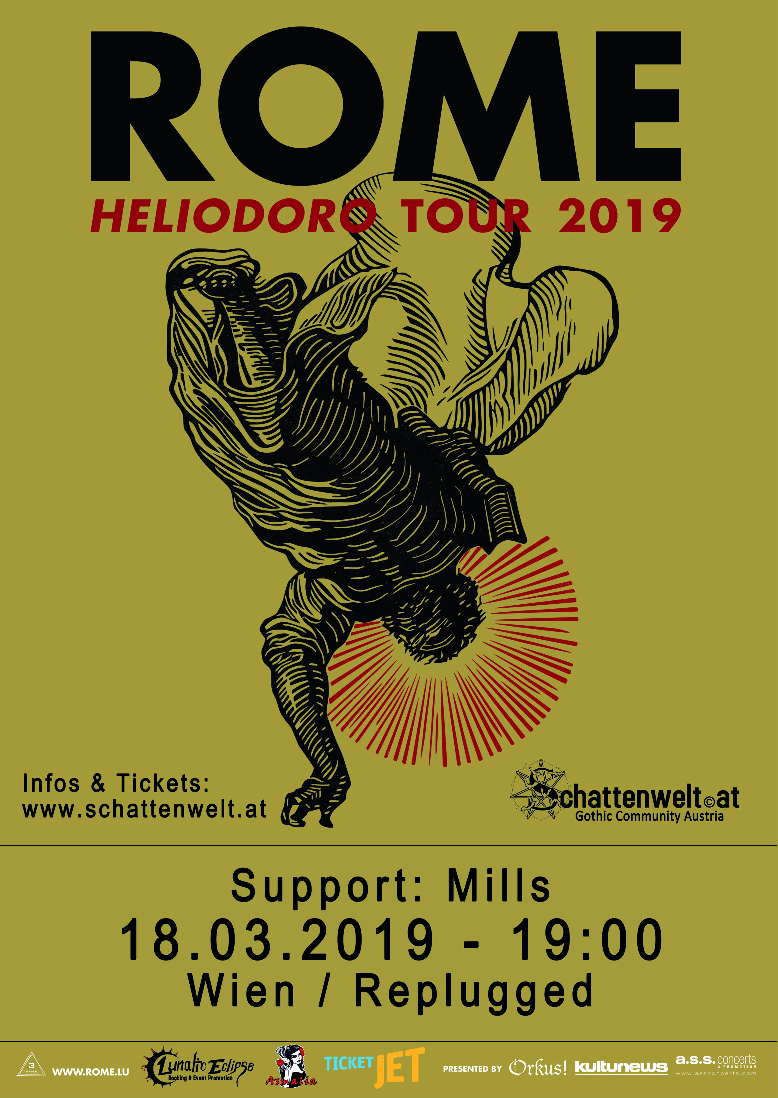 ROME - Heliodoro Tour / Support: Mills